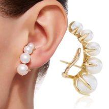 綺麗な真珠や天然石の新作ファッションピアス