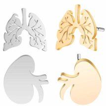 人間の臓器・肺と腎臓のピアス
