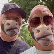 2021年の干支「牛」のマスク作りました