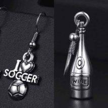 お酒好きやサッカー好きな人のためのピアス