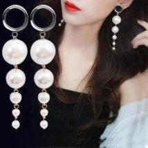 大きな真珠やお花の女性向け大きなボディピアス