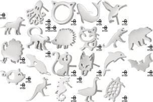 生き物をモチーフにした新作ピアスが21種類